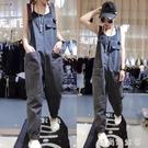 2021春夏新款背帶褲女減齡小個子顯瘦歐貨韓版寬鬆工裝連體牛仔褲「時尚彩紅屋」
