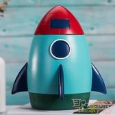 乳牙紀念盒火箭擺件寶寶牙齒收藏盒子換掉牙齒保存盒【聚可愛】