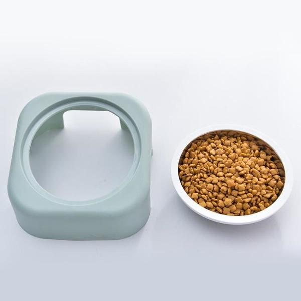 一佳寵物館 護頸椎貓狗碗 不銹鋼寵物碗食盆 貓咪狗狗創意斜坡型寵物單碗