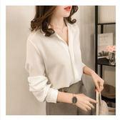 女裝白襯衫女長袖雪紡上衣寬鬆百搭韓版學生打底襯衣 黛尼時尚精品