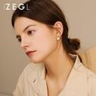耳環 ZENGLIU淡水珍珠耳釘女2021新款潮小眾耳環氣質高級感復古耳飾品 晶彩 99免運