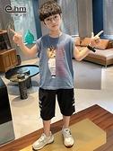 背心 男孩無袖T恤薄男童背心中大童2021夏裝新款兒童潮版【快速出貨】
