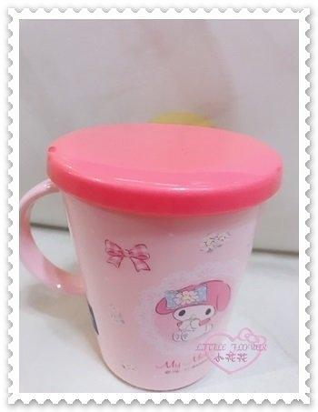 ♥小花花日本精品♥《Melody》美樂蒂 耐熱80度 附蓋水杯 茶杯 蝴蝶結 粉色 日本製造 00135702