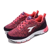 DIADORA 慢跑鞋 粉紅 紫 女鞋 Wide 寬楦頭 舒適緩震 基本款 運動鞋【ACS】 DA31601
