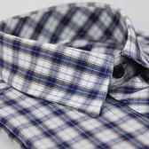 【金‧安德森】白藍格紋金線長袖襯衫