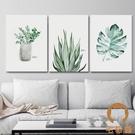 單幅 北歐裝飾畫餐廳簡約客廳植物無框掛畫...