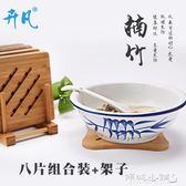隔熱墊 隔熱墊竹制餐墊加厚竹子防燙餐桌墊鍋墊竹木杯墊碗墊盤子墊8個裝 傾城小鋪
