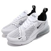 Nike 慢跑鞋 Wmns Air Max 270 白 黑 大氣墊 大型後跟氣墊 舒適緩震 運動鞋 女鞋【PUMP306】 AH6789-100