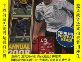 二手書博民逛書店Shoot罕見Annual 2008(英文原版,英國足球雜誌20
