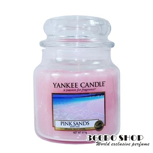 【YANKEE CANDLE】香氛蠟燭 粉紅沙 411g(瓶中燭-中)