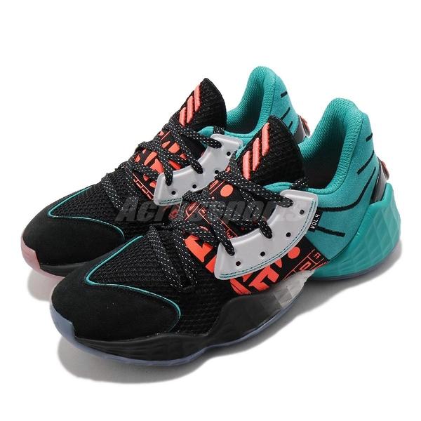 【海外限定】adidas 籃球鞋 Harden Vol. 4 J Geek Up 黑 湖水綠 反光 女鞋 大童鞋 【ACS】 FW4340