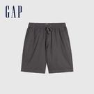 Gap男裝 簡約風格純色鬆緊短褲 841941-卡其色