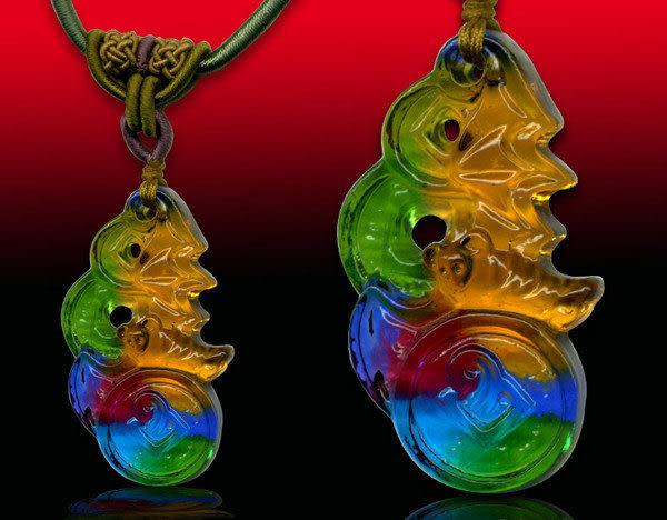 鹿港窯~居家開運水晶琉璃項鍊~福財連年 附精美包裝◆免運費送到家