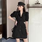 西裝裙 桔梗洋裝法式 女裝夏季正韓氣質性感露背西裝裙子-Ballet朵朵