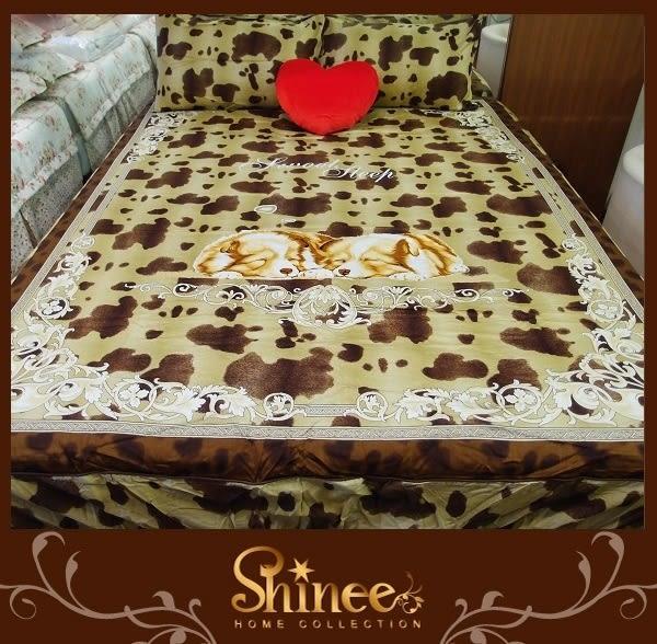原價1980元↘SHINEE 台灣製 100%精梳棉(溫馨夢園)標準雙人床包三件組(床包x1+枕套x2)