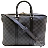 【Louis Vuitton 路易威登】N41478 Porte-Documents VOYAGE系列PM Damier棋盤格手提/斜背電腦公事包