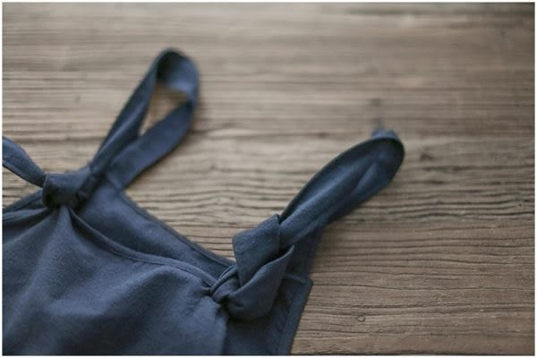 ☆莎lala【Y604057】日森系裙款-(現)深藍色寬版簡約吊帶褲(SIZE:XL)