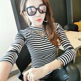 0100 秋裝新款韓版修身顯瘦打底衫個性百搭長袖T恤女PF-4-466-A朵維思