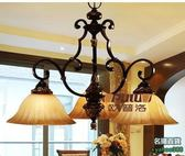 不二448歐式古典鐵藝燈 歐式仿古鐵藝燈 歐式鐵藝燈 歐式3頭吊燈