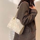 包包女2021新款潮2021法國小眾設計高級感質感百搭時尚鍊條斜背包 童趣屋 免運