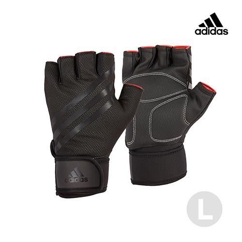 愛迪達Adidas Training進階加長防護手套ADGB-14225-內斂黑(L)【愛買】