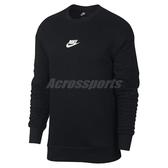 Nike 長袖T恤 Sportwear Heritage Crew 黑 白 男款 勾勾 大學T 【ACS】 928428-011