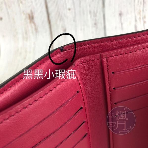 BRAND楓月 LOUIS VUITTON LV M62157 黑色 牛皮 紫紅內裡 CAPUCIN 三折 中夾