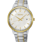【台南 時代鐘錶 SEIKO】精工 大三針簡約時尚腕錶 SGEH82P1@7N42-0GJ0KS 金圈/銀 40mm