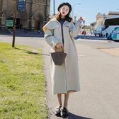 斗篷外套斗篷毛呢外套女秋冬季2018新款韓版學生中長款過膝赫本風呢子大衣 免運艾维朵
