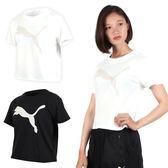 PUMA 女基本系列大跳豹短袖T恤(慢跑 路跑 免運 ≡排汗專家≡