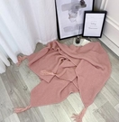 寢居小毛毯 北歐辦公室午睡沙發毯空調針織小毯子線披肩蓋毯毛毯床尾巾【快速出貨八折搶購】