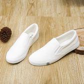 帆布鞋男韓版低筒透氣運動休閒潮鞋白色百搭男鞋子學生男板鞋 露露日記