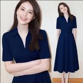 夏裝雪紡洋裝裙子顯瘦法式兩件套裝新款大碼女裝 潮流衣舍