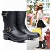 雨靴成人韓國水靴套鞋防滑膠鞋大人水鞋時尚雨鞋女潮中筒