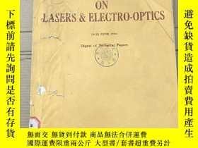 二手書博民逛書店conference罕見on lasers electro-optics(P2736)Y173412