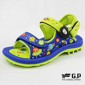 GP 阿亮代言 玩水 快速磁扣 兒童兩用涼鞋 - 藍綠色 G8680B26