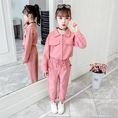 女童春裝套裝2020新款中大童韓版網紅女孩洋氣兒童時髦夏裝兩件套