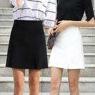 職業裝 防走光半身裙女夏2018新款工作短裙秋一步職業包臀工裝黑色a字裙【快速出貨】
