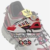 adidas 休閒鞋 ZX 10000 紅 白 男鞋 民俗風 復古慢跑鞋 愛迪達 Originals【ACS】 G55726