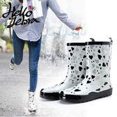 雨鞋女中筒加絨可拆卸雨靴女成人時尚防水鞋女韓國防滑女士水鞋【這店有好貨】