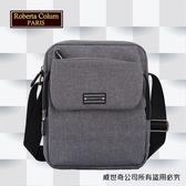 【Roberta Colum】諾貝達 百貨專櫃 男仕多功能防潑水側背包(PX501-2 灰色)【威奇包仔通】
