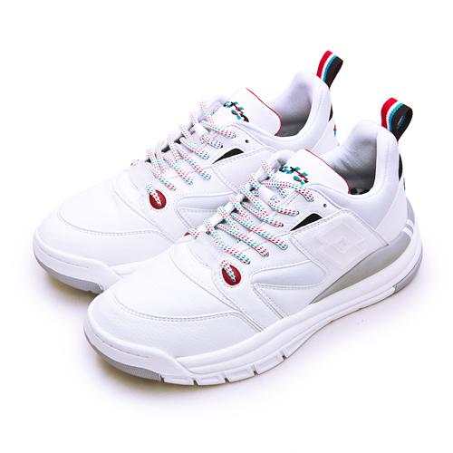 LIKA夢 LOTTO 經典厚底復古多功能運動鞋 SIRIUS 老爹鞋系列 白灰 1229 女