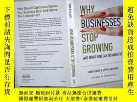 二手書博民逛書店WHY罕見BUSINESSES STOP GROWINGY180