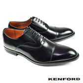 【KENFORD】橫飾U型鞋翼牛津鞋 經典黑 (KB48-BL)
