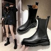 短靴 馬丁靴女秋冬2020年新款英倫風煙筒中筒切爾西春秋單靴瘦瘦短靴子 零度3C