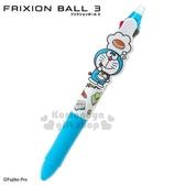 〔小禮堂〕哆啦A夢 日製擦擦多色原子筆《藍白.道具滿版》3色.0.38mm.FRIXION BALL系列 4901610-79799