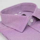 【金‧安德森】小圖紫色窄版短袖襯衫