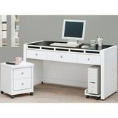 書桌 電腦桌 CV-632-2 貝多美白色4.7尺書桌 (不含其他產品)【大眾家居舘】