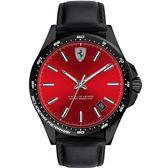 Scuderia Ferrari 法拉利 Pilota 飆風再起時尚手錶-紅x黑/42mm FA0830525