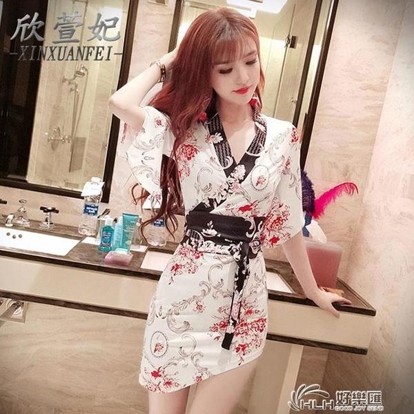 日式工裝裙復古和服睡衣女桑拿足浴技師工作服夜店女裝性感洋裝 好樂匯